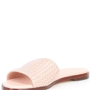 NEW!!! Cole Haan Analise Leather Woven Slides